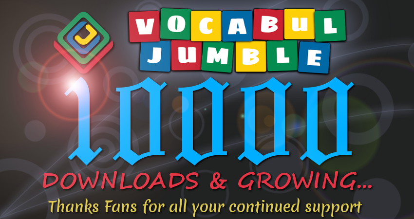Vocabul Jumble Crosses 10,000 Downloads