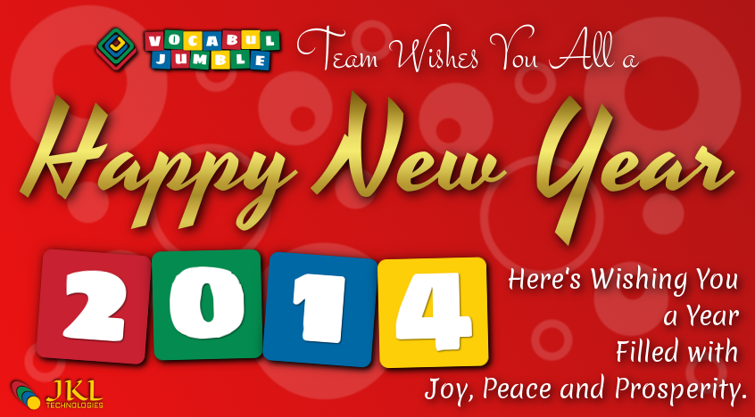 Vocabul Jumble New Year Greeting