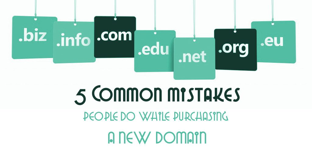 5 Common mistakes while purchasing new domain - JKL Technologies